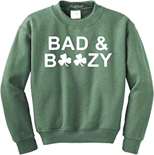 Bad & Boozy St. Patrick's Day Crewneck Sweatshirt - Unisex Crew