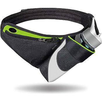 ランニングポーチ ウォーキングポーチ スポーツ 旅行 遠足 サイクリング登山用ポーチ 大容量 防水 ボトルホルダーが付き イヤホンホール付き 反射素材 夜間反射 通気性抜群 男女兼用 ポケットがiPhone X/MAXに適合