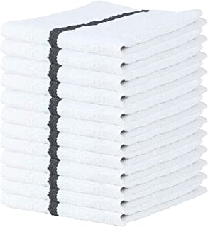 Arkwright Qwick Wick Terry Bar Mop Towel Pack of 12 White Kitchen Towels, Restaurant Cleaning Towels, Rags for Home, Kitch...