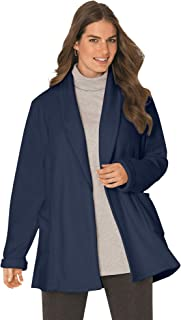 Women's Plus Size Microfleece Cardigan