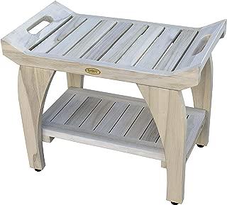 CoastalVogue Tranquility Shower Bench, 24, Driftwood