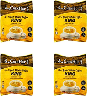 4 Pack Chek Hup 3 in 1 Ipoh White Coffee KING Imported from Malaysia (4x12 sachets)