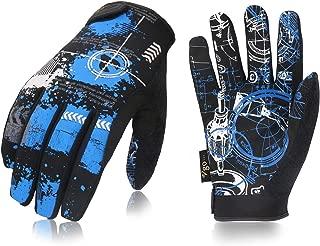 Vgo 3 Pairs High Dexterity Light Duty Antislip Mechanic Glove (Size XXL, Blue, SL8690)