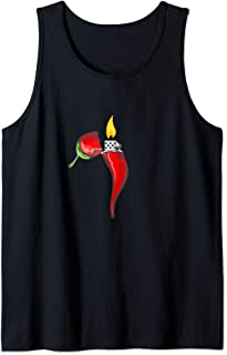 Funny Chili lighter spicy food lover chili cook off gift Tank Top