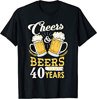 Vintage Cheers and Beers to my 40 years 40th Birthday Tshirt