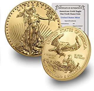 in Capsule 2021 AU 1 oz Australian Gold Kangaroo Coin Brilliant Uncirculated with Certificate of Authenticity by CoinFolio $100 BU