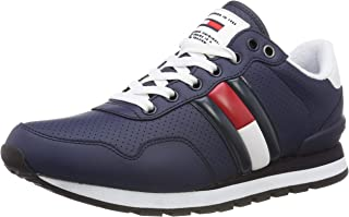 Hilfiger Denim Men's Lifestyle Tommy Jeans Sneaker Trainers, Grau (Ink 006), 12 UK (46 EU), INK, Size 46 EU