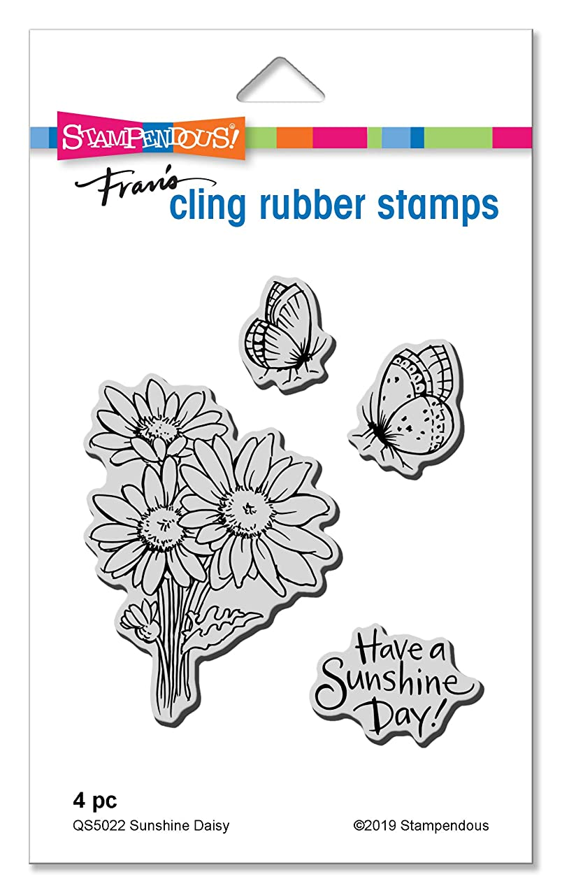 Stampendous QS5022 Sunshine Daisy Cling Stamp Set,