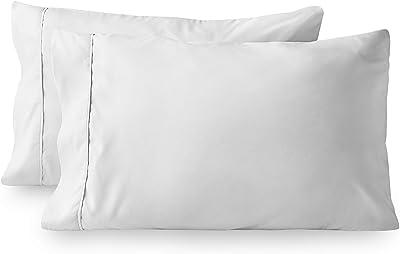 Bare Home Premium 1800 Ultra-Soft Microfiber Pillowcase Set - Double Brushed - Wrinkle Resistant (King Pillowcase Set of 2, White)
