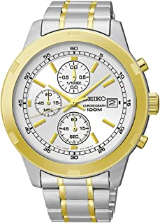 Seiko Chronograph Silver and Gold-Tone Stainless Steel Men's watch #SKS432
