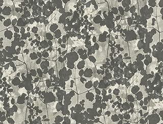 York Wallcoverings NA0521 Pressed Leaves Wallpaper Dark Grey