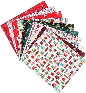 KESYOO 10 Unidades de Tecido de Algodão de Natal Costurando Panos de Tecido Quadrado Tecido de Quilting de Natal Diy Artes...