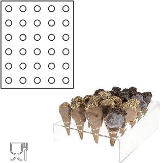 Avà srl Présentoir Cornets à Glace plexi Transparent – 30 Trous - Dimensions: 26 x 32 x H5cm