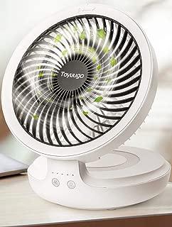 卓上扇風機 2019年最新版 Toyuugo 首振り コードレス 充電式サーキュレーター 呼吸ランプ 卓上 静音 usb扇風機 4段階風量調整 折り畳み可能 16時間連続使用 熱中症対策 ミニ扇風機