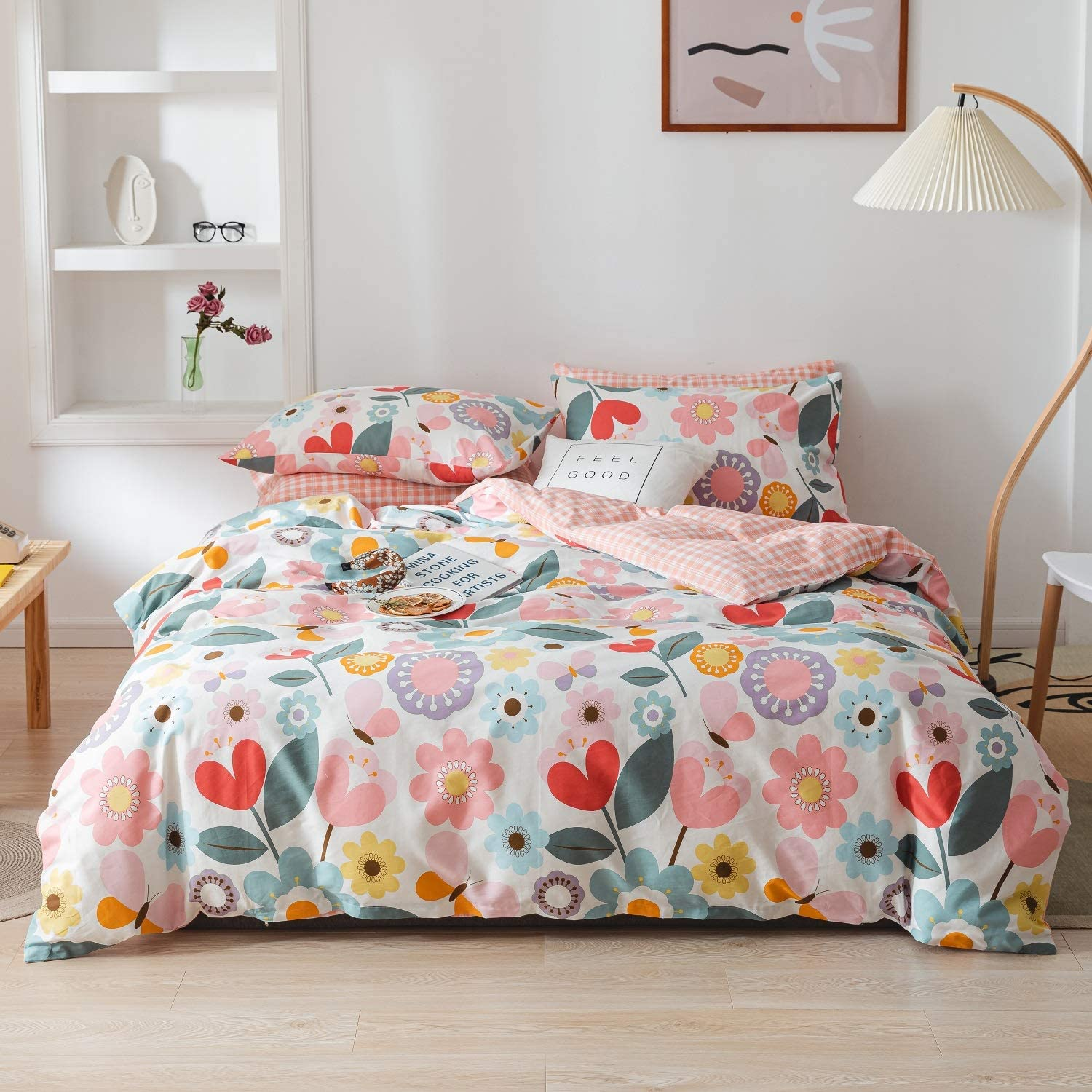 Floral Duvet Cover 100% Cotton 3 pcs Bedding Oklahoma City Mall Recommended Twin fo Set