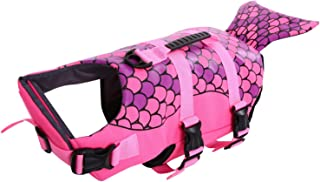 Queenmore Dog Life Jacket, Ripstop Life Vest for Small, Middle, Large Size Dogs, Fish Style Floatation Vest with Adjustable Soft Rubber Handle
