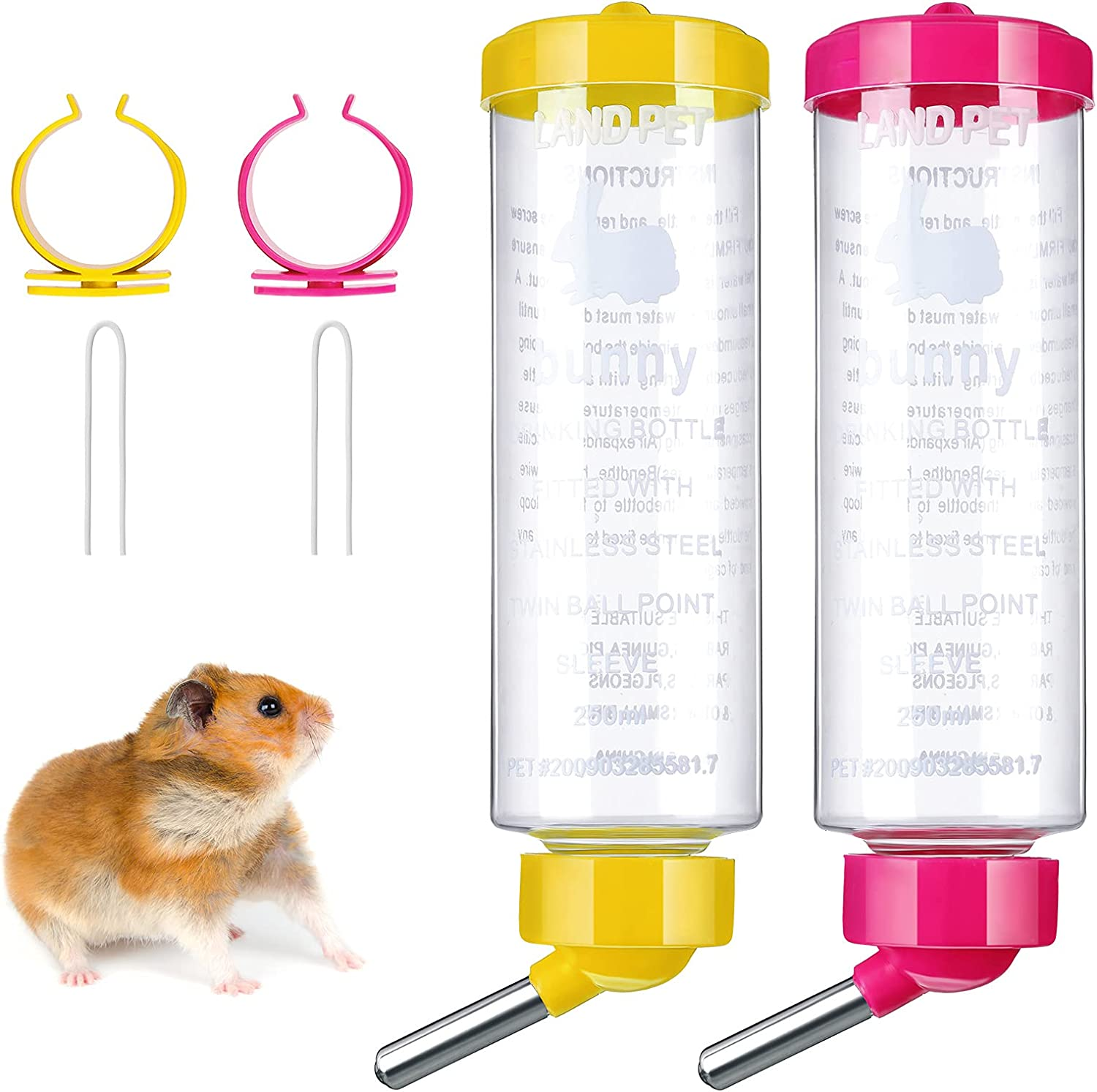 2 Pieces 8.45 oz Guinea Pig Water National uniform free shipping Drip No Cheap mail order sales Animal Small D Bottle