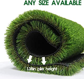 LITA Premium Artificial Grass 5' x 21' (105 Square Feet) Realistic Fake Grass Deluxe Turf Synthetic Turf Thick Lawn Pet Turf -Perfect for Indoor/Outdoor Landscape - Customized