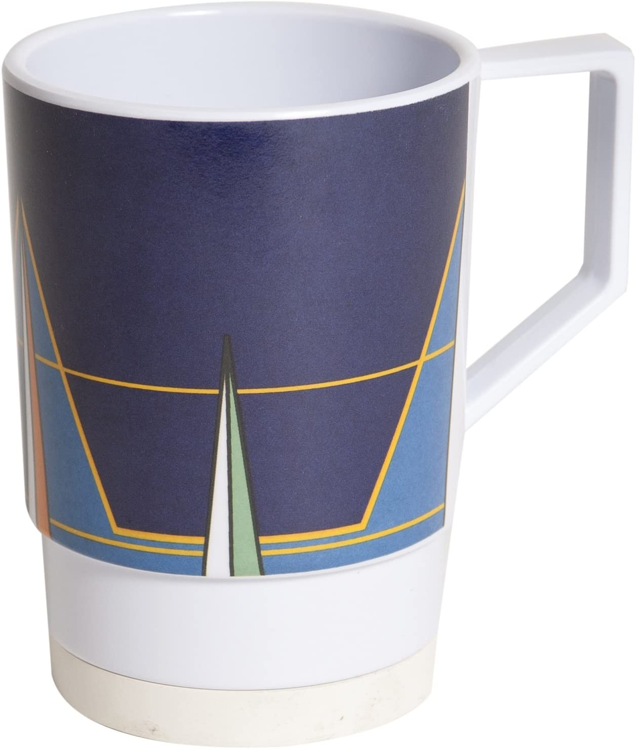 NEW before selling ☆ Galleyware Blue Compass 2021 Melamine Non-Skid 6 Nesting Mugs Set Of