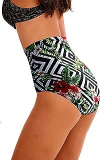 tengweng Women's High Waist Swimsuit Bikini Bottoms Plus Size Tummy Control Tankini Bottoms Swim Shorts
