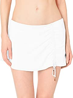 Anne Cole Women's Solid Adjustable Sarong Skirted Swim Bottom