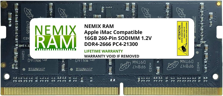 16GB DDR4-2666MHz PC4-21300 SO-DIMM Memory for Apple 27 iMac with Retina 5K Display Mid 2020 iMac 20,1 iMac 20,2 by NEMIX RAM