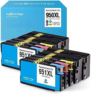 myCartridge Compatible Ink Cartridge Replacement for HP 950 951 950XL 951XL 8100 8600 8610 8620 ( 4 Black, 2 Cyan, 2 Magenta, 2 Yellow , 10 pk )