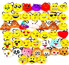 JZK 45 Piccoli giocattoli peluche 5CM mini emoji portachiavi emoticon whatsapp regalo Natale pensierino compleanno bomboniera festa bambini adulti