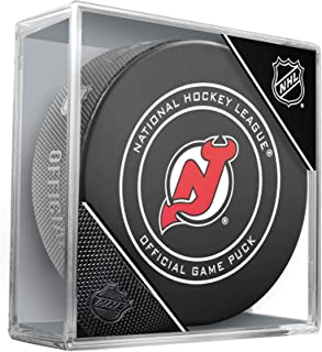 New Jersey Devils Unsigned InGlasCo Official Game Puck - Unsigned Pucks