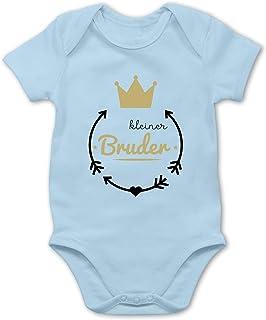 Shirtracer Kleiner Bruder - Krone - Baby Body Kurzarm für Jungen und Mädchen