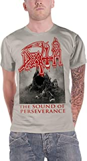 T Shirt The Sound of Perseverance Band Logo Official Mens Off White Size L