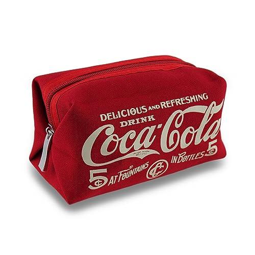 075c1164912c Canvas Cosmetics Organizers Red Vintage Style Canvas Coca-Cola Cosmetics Bag  6 X 3.5 X