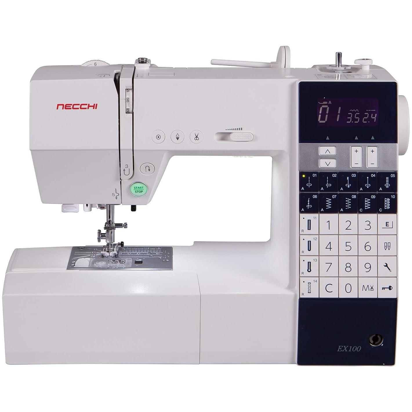 Necchi EX100 Sewing Machine, White