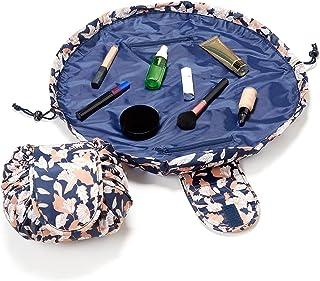 Drawstring Makeup Bag that Opens Flat, Travel Makeup Bag, Cosmetic Travel Case, Makeup Organizer Bag, Makeup Pouch, Practi...