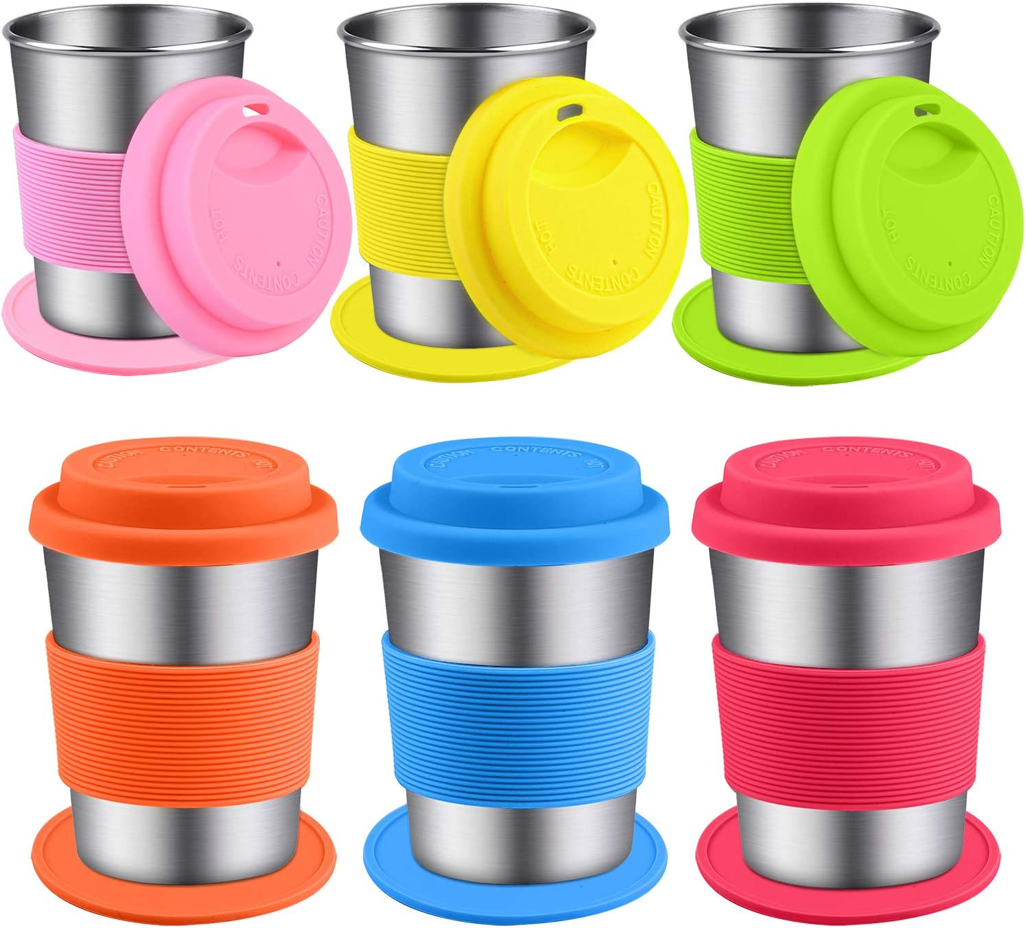 Ruisita 6 Pack trust 8 Ounce Stainless Cups Lids Steel Sleeves with an Cheap mail order shopping