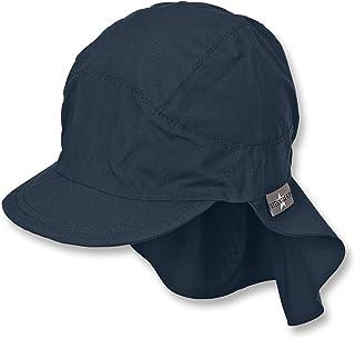Sterntaler Unisex Schirmmütze mit Nackenschutz, Blau marine 300, 51 cm