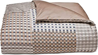 Hotel Collection Patchwork Cotton King Duvet Cover Blue/Brown