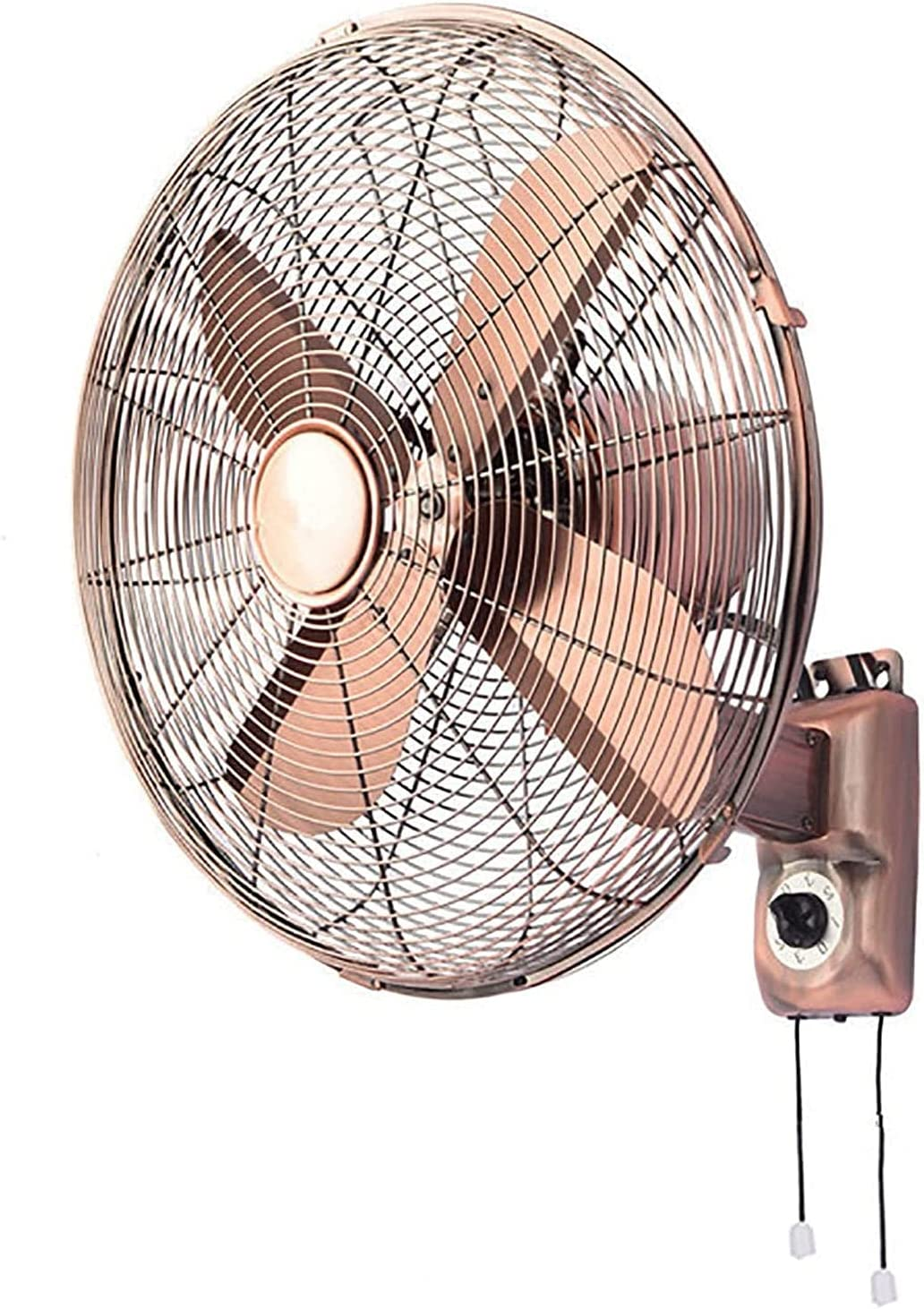 HTDHS Retro Metal Wall Fan Remoto 120 Grado Swing Fan 50W Industrial Industrial Heavy Duty Fan Electric Metal Metal Fan de enfriamiento de Alta Velocidad