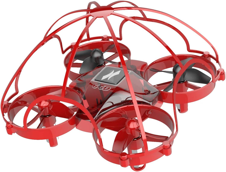 ATOYX AT-66D Drone Enfant Hélicoptère Télécomhommedé avec Mode sans Tête Mini Drone avec Télécomhommede Jouet et Cadeau pour Enfant et Débutant (Rouge)
