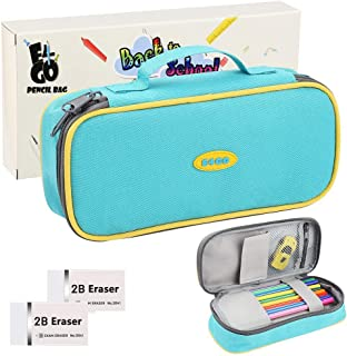 Pencil Case Pencil Pouch Large Capacity Stationery Organizer Storage Pencil Bags with Zipper Use Oxford Fabric 600D, 8.6