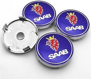 Wielnaafdoppen naafkappen wielen 4 stks 56mm en 60mm Embleem Wielcentrum Hub Caps Badge Covers Auto-accessoires for Saab ...