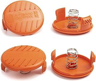 X Home Weed Eater Spool Cap Caps سازگار با Black Decker GH900 GH600 LST522 LCC140 String Trimmer، Replacement RC-100-P Edger Parts، 385022-03 Cap Bump Cover Cap (4 Caps، 4 Spring)