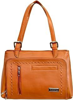 Pinkish Leatherette Handbags For Women's Ladies PK-Daily-025 PK-07 Black