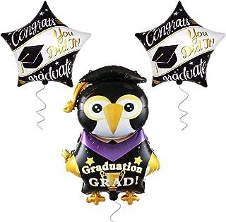 Large Penguin Graduation Balloons for Grad Party-   2 Star Graduation Ballons   Congrats Grad You Did it Balloon   Graduation Party Supplies for High School, Kindergarten Graduation Ddecorations