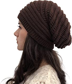 Vpogn Women Knit Baggy Oversize Slouchy Beanie Hat Soft Winter Beanie Skull Cap