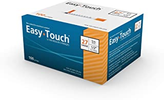 """EasyTouch® U-100 27g, 1cc / mL, 1/2"""" (12.7mm) Box of 100"""