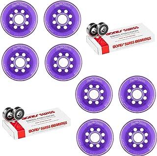 Labeda Inline Roller Hockey Skate Wheels Addiction Purple 80mm 4 Set Bones Swiss