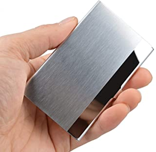 1Pcs Super Light Business Card Holder Professional Stainless Steel Business Name Card Case Silver