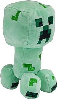 "JINX Minecraft Earth Happy Explorer Creeper Plush Stuffed Toy, Green, 7"" Tall"