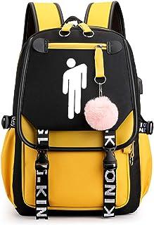 FURUN Billie Eilish Unisex Mochilas para Deportes y Aire Libre Mochilas Tipo Casual Mochilas de Carga USB para Hombre Mujer